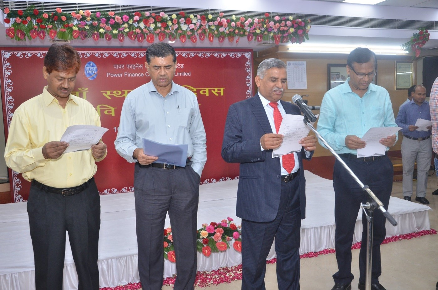 Pledge Taking Ceremony on PFC Foundation Day