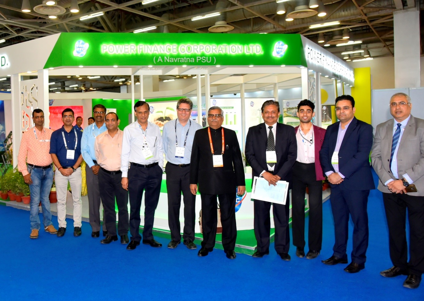 CMD, Directors and PFC Executives at the PFC Pavilion at 2nd Global Reinvest Expo 2018 held in Greater Noida